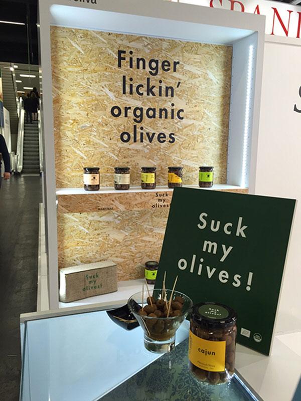 Presentación Suck my olives en Anuga 2015 por La Patería
